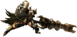MH4U-Gunlance Equipment Render 001