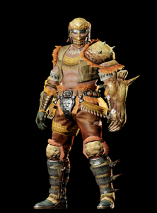 MHO-Gold Congalala Armor (Gunner) (Male) Render 001
