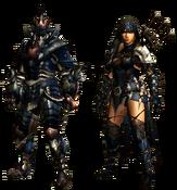 MHGU-Skalda and Spio Armor (Both) Render