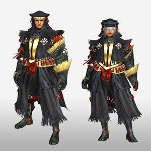 FrontierGen-Kuroko G Armor (Gunner) (Front) Render