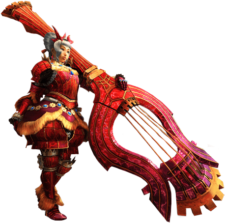 File:MH4U-Hunting Horn Equipment Render 001.png