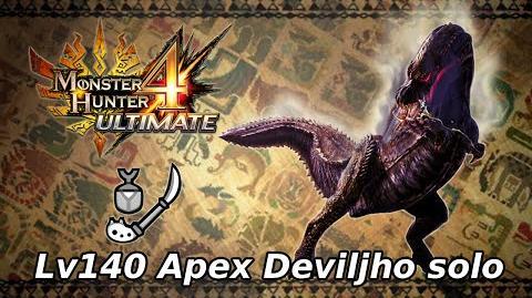 MH4U Lv140 Apex Deviljho solo - 12'21''33