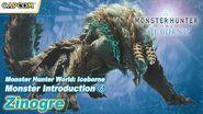 Monster Hunter World Iceborne - Monster Introduction 6 Zinogre (English)