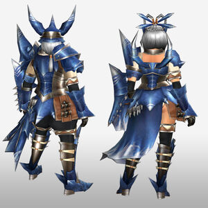 FrontierGen-Torupedo G Armor (Gunner) (Back) Render
