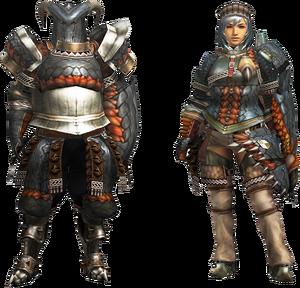 MH4U-Gypceros Armor (Gunner) Render 001