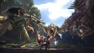 MHW-Rathalos, Rathian and Pukei-Pukei Screenshot 001