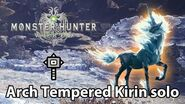 MHWorld Arch Tempered Kirin solo first attempt (Hammer)