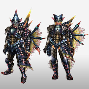 FrontierGen-Beru Armor (Gunner) (Front) Render
