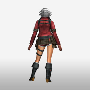 FrontierGen-Lady Armor 003 (Female) (Both) (Back) Render