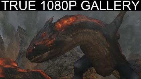 29 - Magma Swimming Wyvern 1080p Lavasioth ヴォルガノス - Monster Hunter Freedom Unite Gallery MHFU