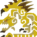 MH10th-Gold Rathian Icon