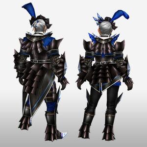 FrontierGen-Akura Armor 004 (Blademaster) (Back) Render