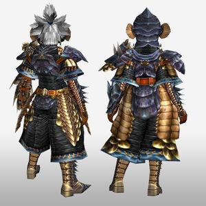 FrontierGen-Lava G Armor (Gunner) (Back) Render