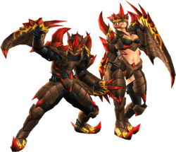 FrontierGen-Ranpeji Armor (Both) Render 2