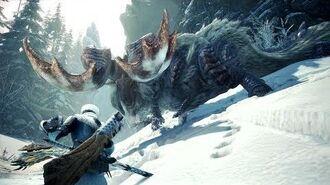 Monster Hunter World Iceborne Beta - Banbaro Boss Fight (Solo Longsword)