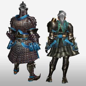 FrontierGen-Velociprey G Armor (Blademaster) (Back) Render
