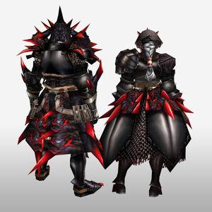 FrontierGen-Rirusu Armor (Blademaster) (Back) Render