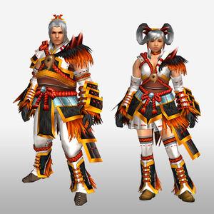 FrontierGen-Satokagura G Armor (Gunner) (Front) Render
