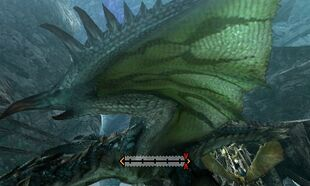 MH4U-Azure Rathalos Left Wing Break 001
