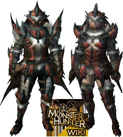 File:MH3-Rathalos Armor (Blademaster) Render.png