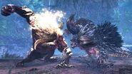 【MHWI】ラージャン VS 悉くを殲ぼすネルギガンテ(縄張り争い) Rajang VS Ruiner Nergigante Turf War