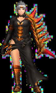 FrontierGen-Espinsu G Armor (Female) (Gunner) Render 001