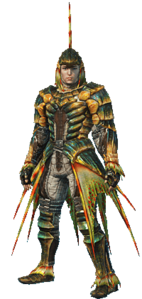 MHO-Plesioth Armor (Blademaster) (Male) Render 001