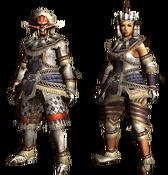 MHGU-Blango Armor (Blademaster) Render