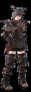 MHW x FFXIV-Rathalos Armor (Female) Render 001
