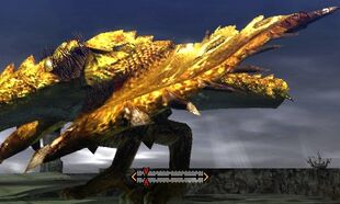 MH4U-Gold Rathian Left Wing Break 002
