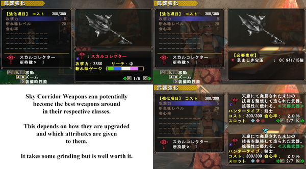 Tenrou Weapons Upgrading