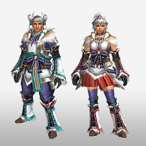 FrontierGen-Kagura Armor (Blademaster) (Front) Render