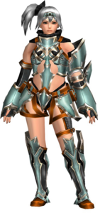 FrontierGen-Perifu Armor (Female) (Both) (Front) Render 003