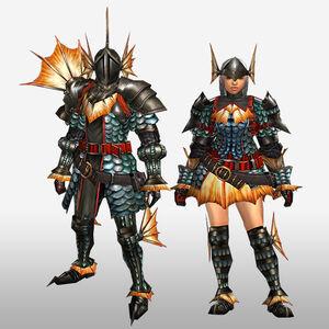 FrontierGen-Gareosu G Armor (Blademaster) (Front) Render