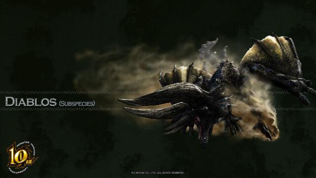 File:MH 10th Anniversary-Black Diablos Wallpaper 001.jpg