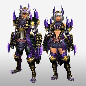 FrontierGen-Kemoru Armor (Both) (Front) Render