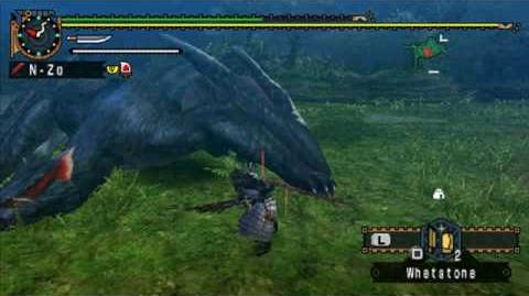 MHP2G MHFU Nargacuga Longsword Training no potions traps used
