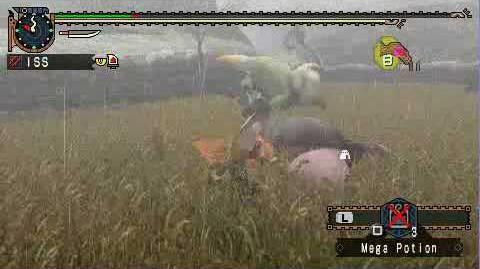 MHP2G Dual Swords (Adrenaline ) vs Congalala & Emerald Congalala