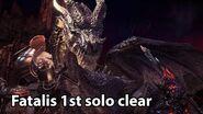 MHW IB My first Fatalis solo clear (Dual Blades)