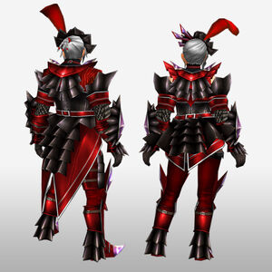FrontierGen-Akura Armor 003 (Blademaster) (Back) Render