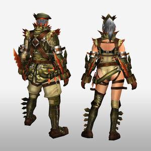 FrontierGen-Abio Armor (Blademaster) (Back) Render