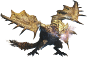 MHWI-Gold Rathian Render 001