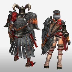 FrontierGen-Geryosu G Armor (Gunner) (Back) Render