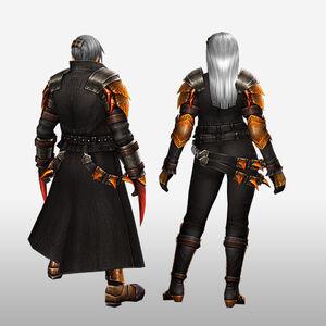 FrontierGen-Espina U Armor (Blademaster) (Back) Render