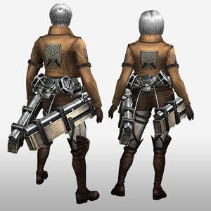 FrontierGen-Training Corps Armor (Both) (Back) Render