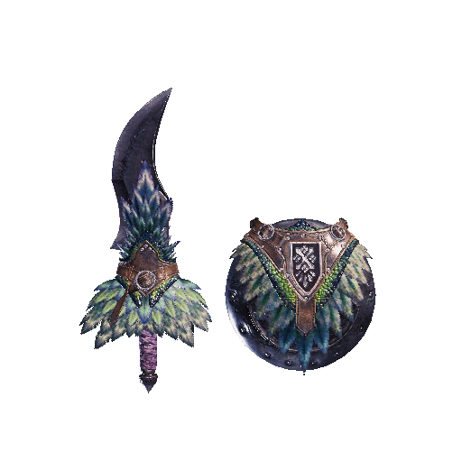 MHW-Sword and Shield Render 015