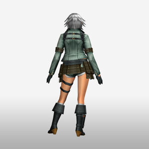 FrontierGen-Lady Armor 008 (Female) (Both) (Back) Render