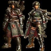 MHGU-Battle Armor (Blademaster) Render
