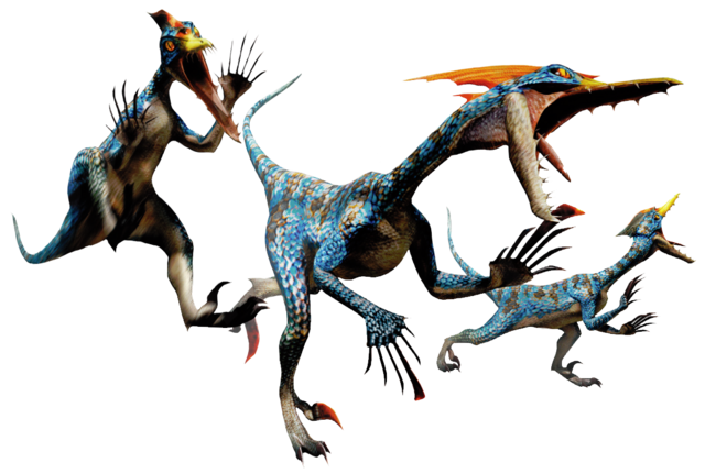 File:MH4-Velocidrome and Velociprey Render 001.png
