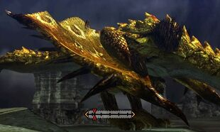 MH4U-Gold Rathian Right Wing Break 001
